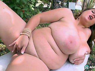 big ass, bbw, big tits, masturbation, milf, outdoor