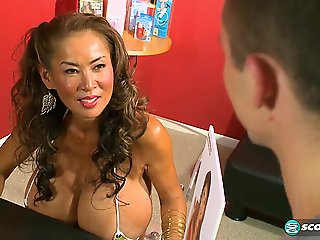 big ass, asian, big tits, milf, red head,