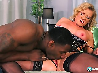 big tits, big ass, blonde, interracial, lingerie, mature