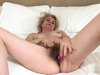 masturbation, blonde, mature, milf, solo female, straight