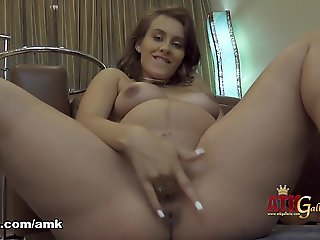 brunette, big ass, masturbation, pregnant, solo female,