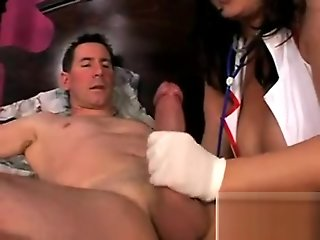 Big tits nurse latex glove